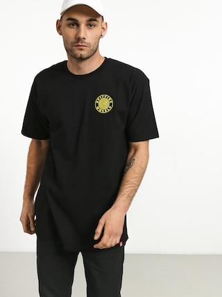 Spitfire Og Circle Outline T-shirt (black/yellow)