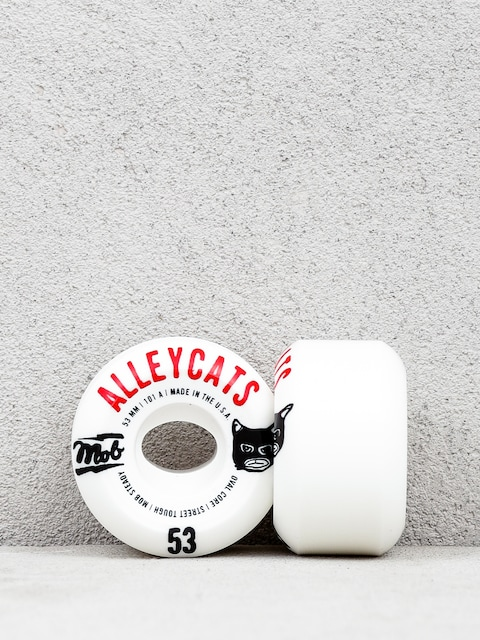 Mob Skateboards Alleycats Wheels (white/black/red)