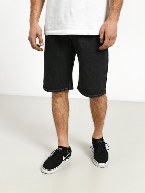 MassDnm Base Regular Fit Shorts (black rinse)