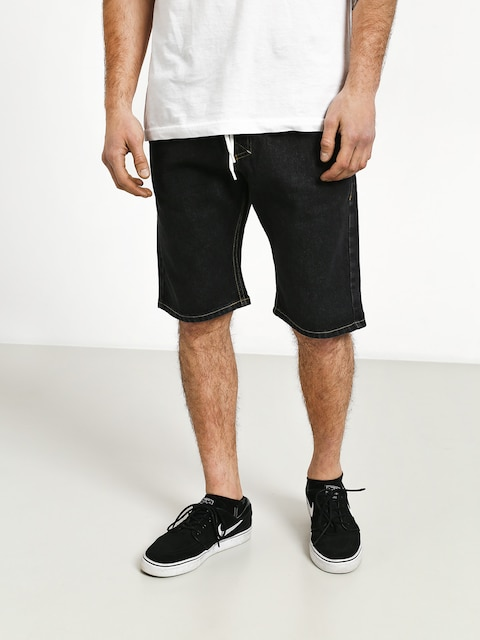 MassDnm Classics Straight Fit Shorts (black rinse)