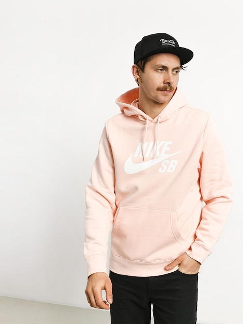 Nike SB Icon HD Hoodie (washed coral/white)