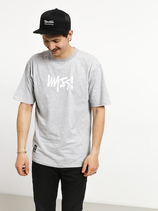 MassDnm Signature Medium Logo T-shirt (light heather grey)