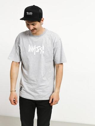 MassDnm Signature Medium Logo T-shirt (light heather grey)