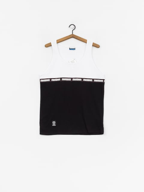 MassDnm Line Tank top (white/black)