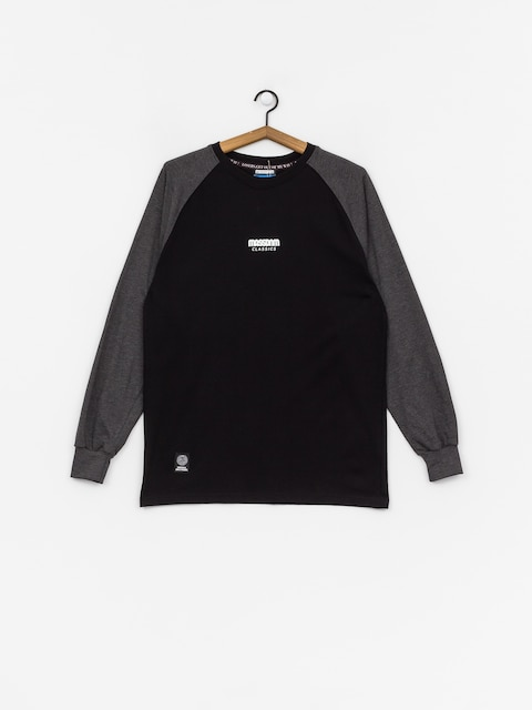 MassDnm Classics Small Logo Longsleeve (black/dark heather grey)