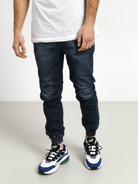 Diamante Wear Rm Jeans Jogger Pants (dark wash jeans)