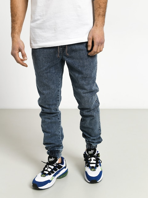 Diamante Wear Rm Jeans Jogger Pants (blue)
