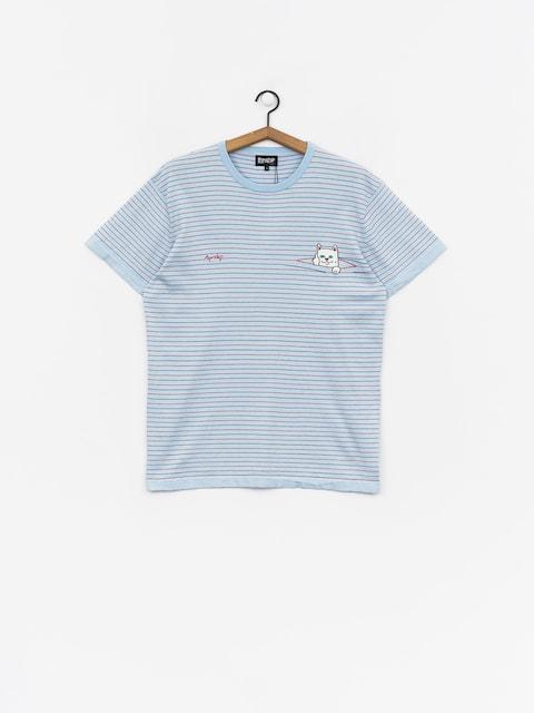 RipNDip Peeking Nermal Knit T-shirt (baby blue/red)