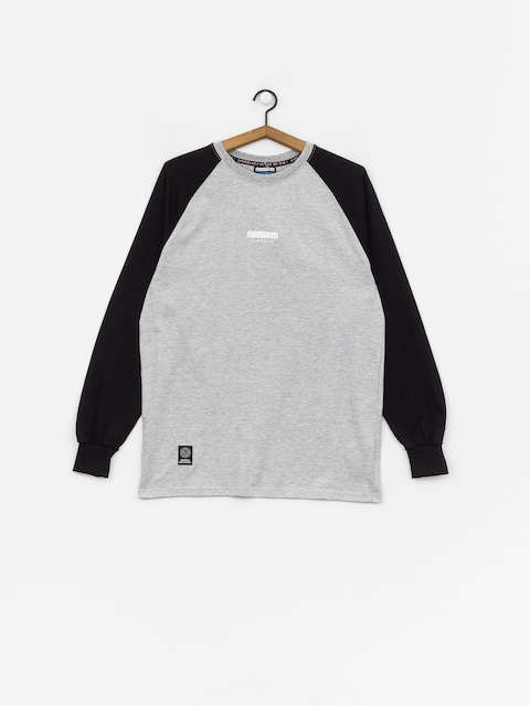 MassDnm Classics Small Logo Longsleeve (light heather grey/black)