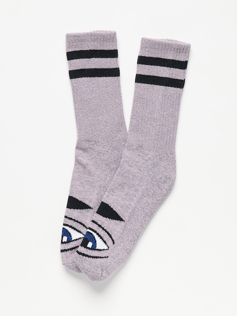 Toy Machine Sect Eye Socks (pink grey heather)