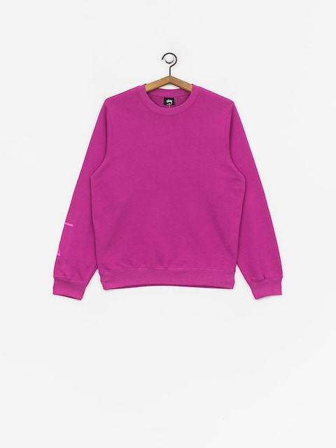 Stussy Stock Crew Sweatshirt Wmn (berry)