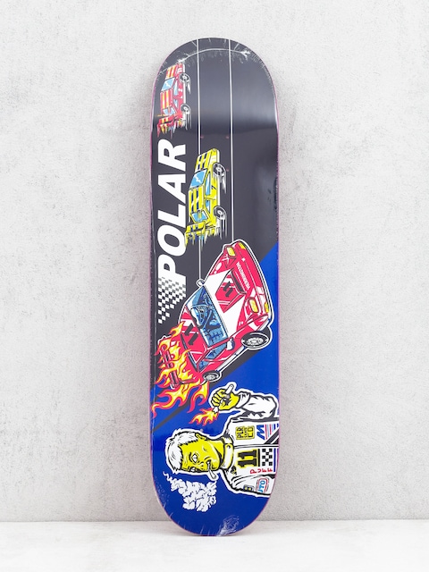 Polar Skate Aaron Herrington Reptilian Racer Deck (black/blue)