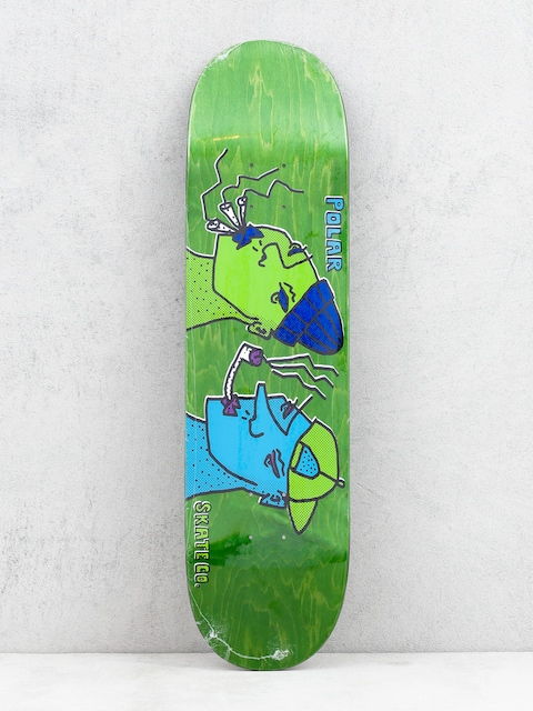 Polar Skate Team Smoking Heads Deck (green)