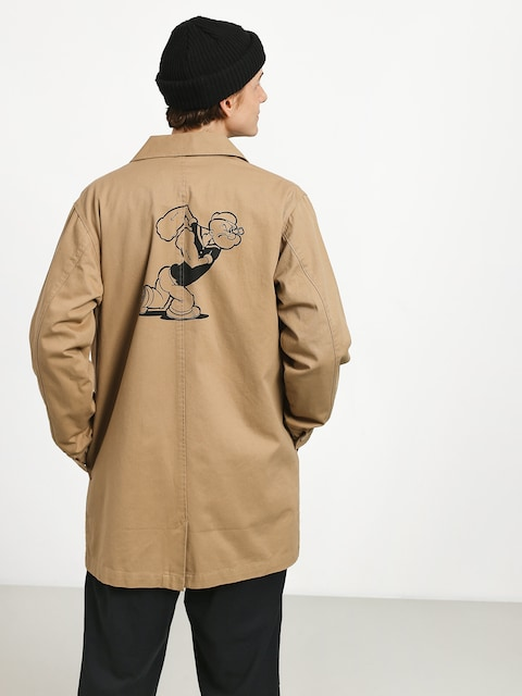 HUF Popeye Trench Jacket (tan)