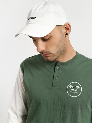 Brixton Wheeler 3/4 Slv Henley T-shirt (washed chive)