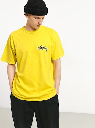 Stussy Stock C Pig Dyed T-shirt (lime)