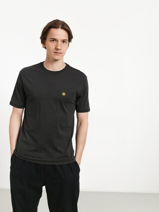 Brixton Mob Prt T-shirt (washed black)
