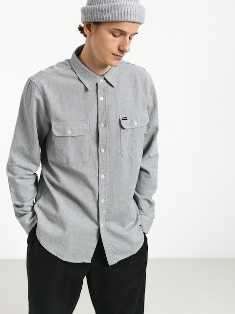 Brixton Bowery Flannel Shirt (light blue/white)