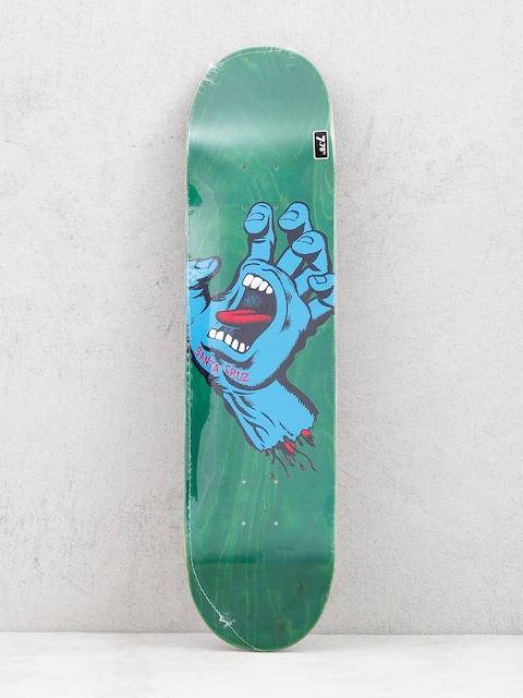 Santa Cruz Screaming Hand Hard Rock Deck (green/blue)