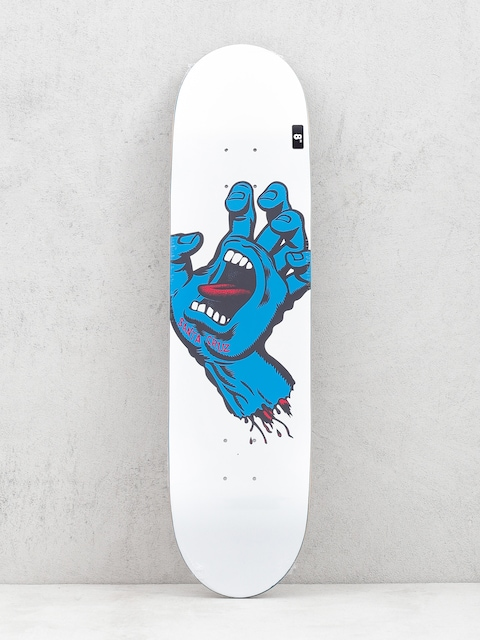 Santa Cruz Screaming Hand Taper Deck (white/blue)