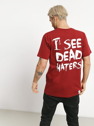 Diamante Wear I See Dead Haters T-shirt (burgundy)
