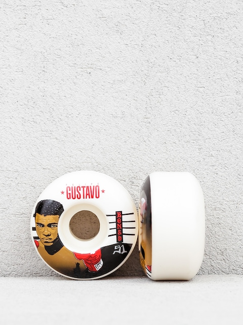 Bones Gustavo Ali Streettech Formula V1 Wheels (white/black/red)