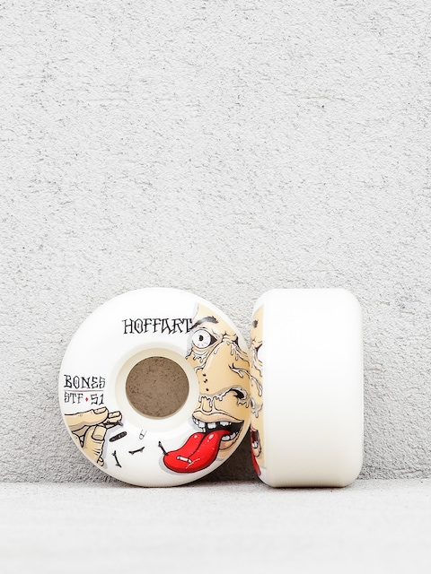 Bones Hoffart Addicted Streettech Formula V2 Wheels (white/red)