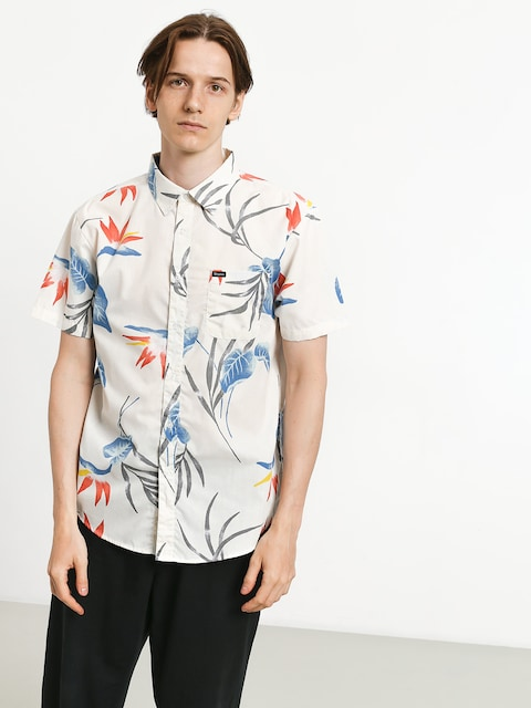 Brixton Charter Print Shirt (off white/blue)