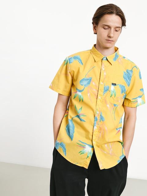 Brixton Charter Print Shirt (yellow)