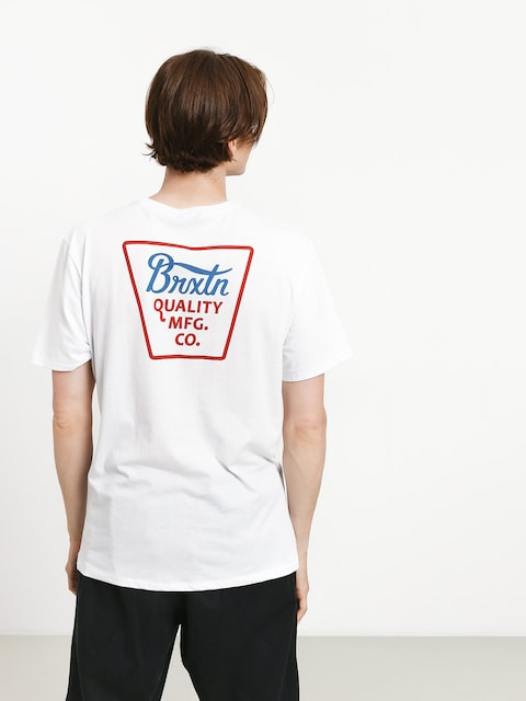 Brixton Potrero Prem T-shirt (white/red)