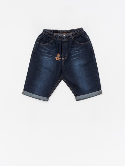 Stoprocent Skull Shorts (dark blue)