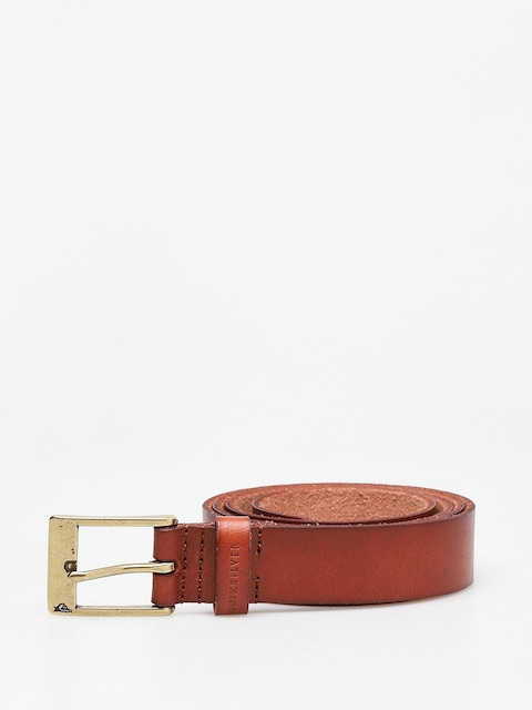 Quiksilver Slim Premium Leather Belt (chocolate brown)