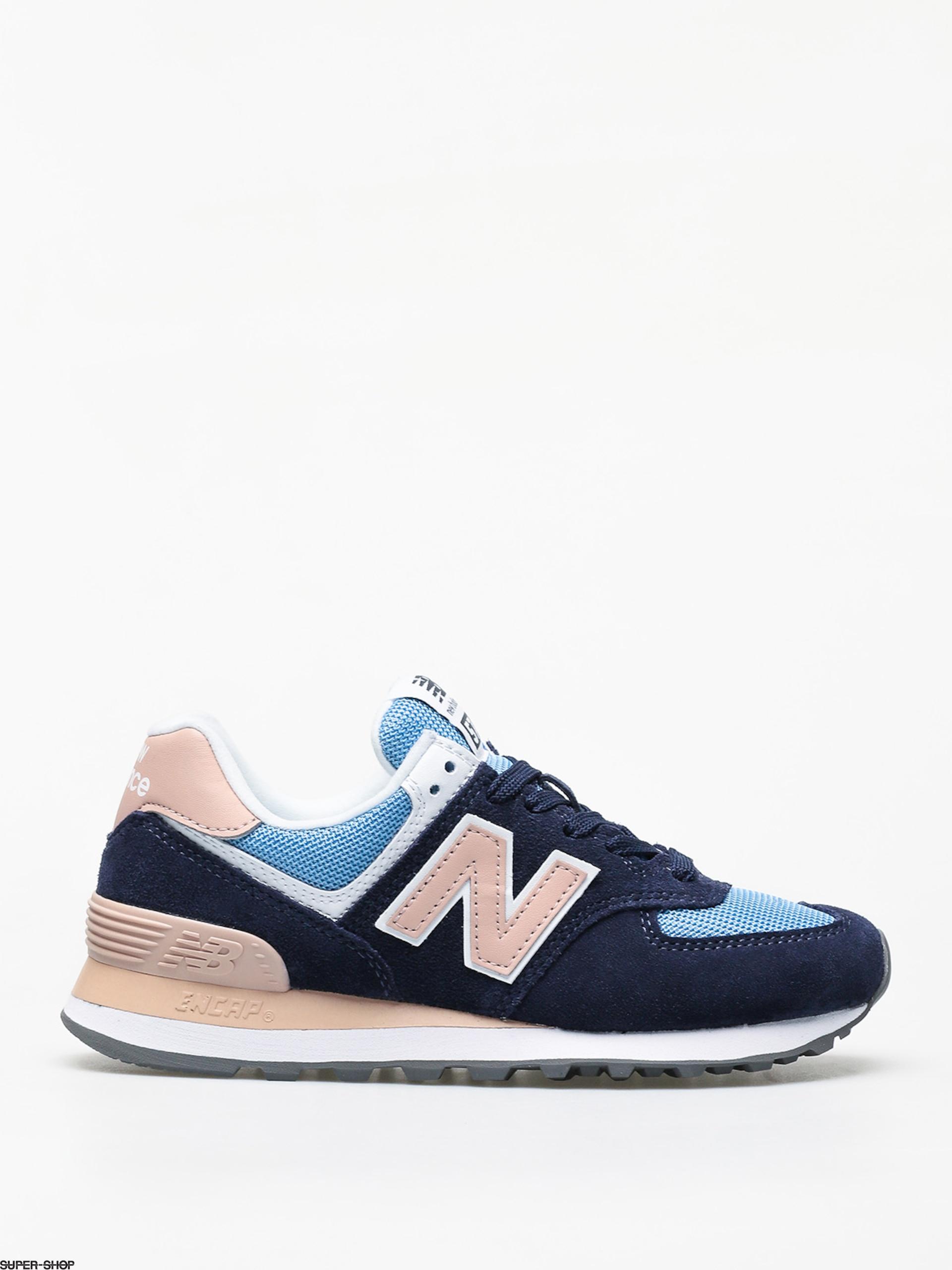 quality design c6b56 52157 New Balance 574 Shoes Wmn (navy/pink)