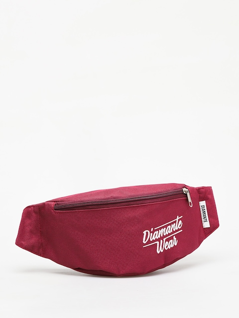 Diamante Wear Diamante Logo Bum bag (burgundy)