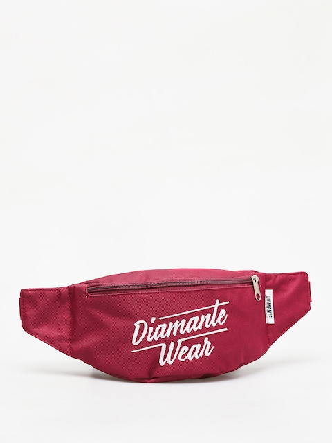 Diamante Wear Diamante Logo Big Bum bag (burgundy)