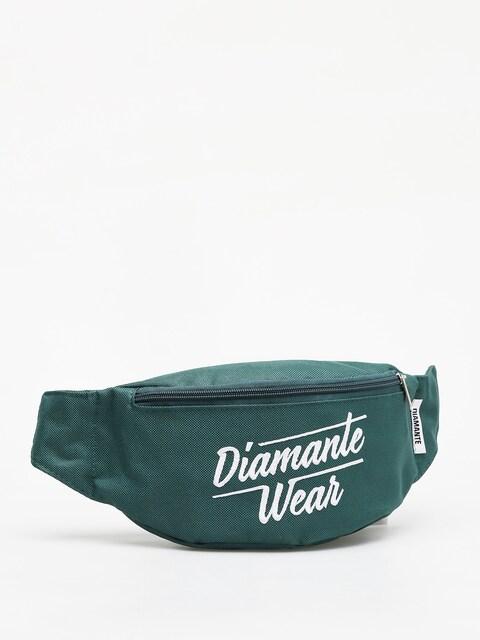 Diamante Wear Diamante Logo Big Bum bag (bottle green)