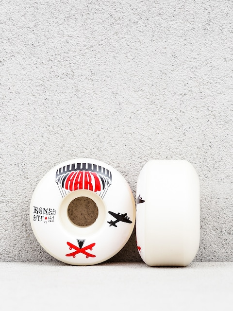 Bones Hart Drop Boards Streettech Formula V1 Wheels (white/black/red)