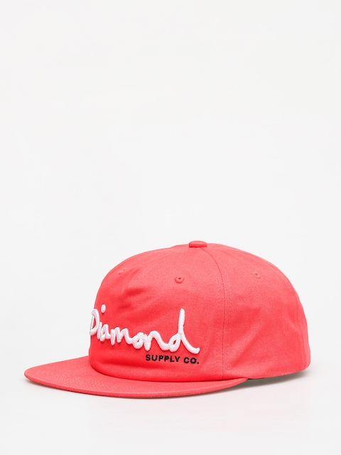 Diamond Supply Co. Og Script Snapback ZD Cap (coral)