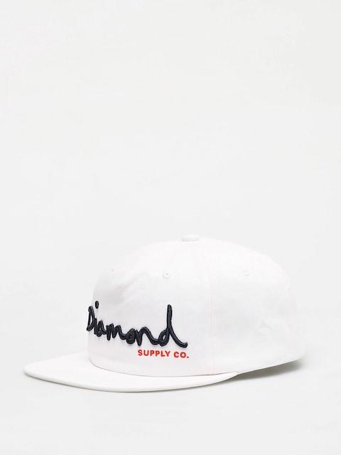 Diamond Supply Co. Og Script Snapback ZD Cap (white)