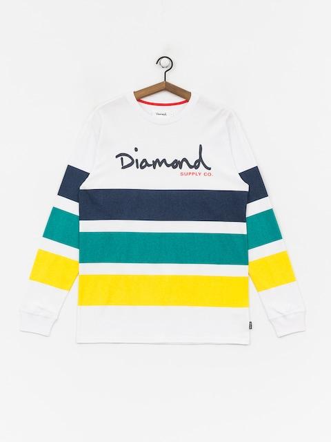 Diamond Supply Co. Og Script Striped Longsleeve (white)