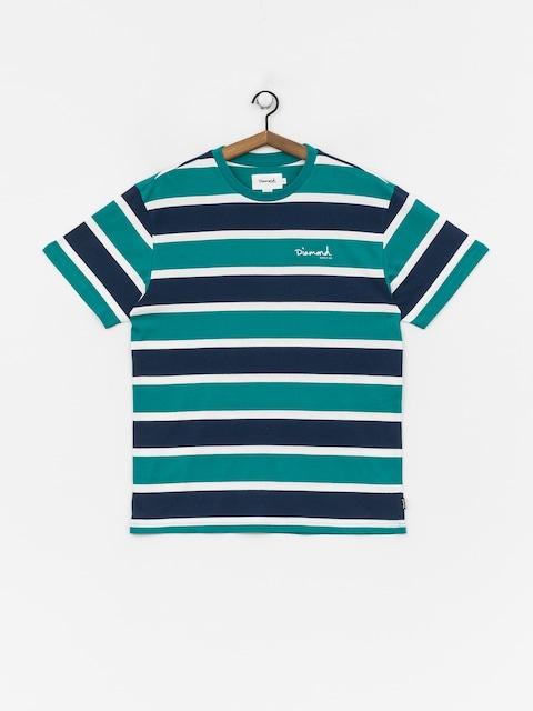 Diamond Supply Co. Mini Og Script Striped T-shirt (teal)