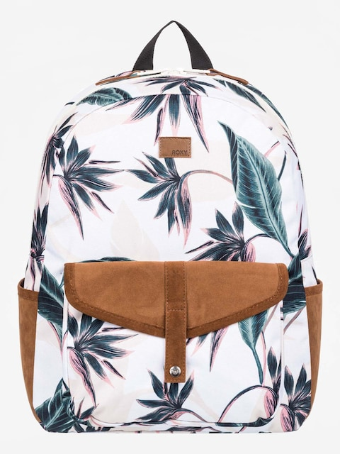 Roxy Carribean Backpack Wmn (bright white swim lunar flower)