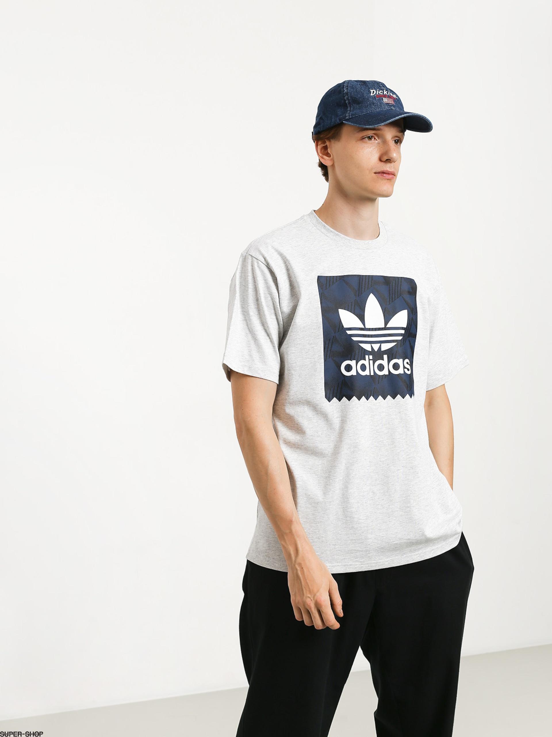 adidas BB Print T shirt grey heather