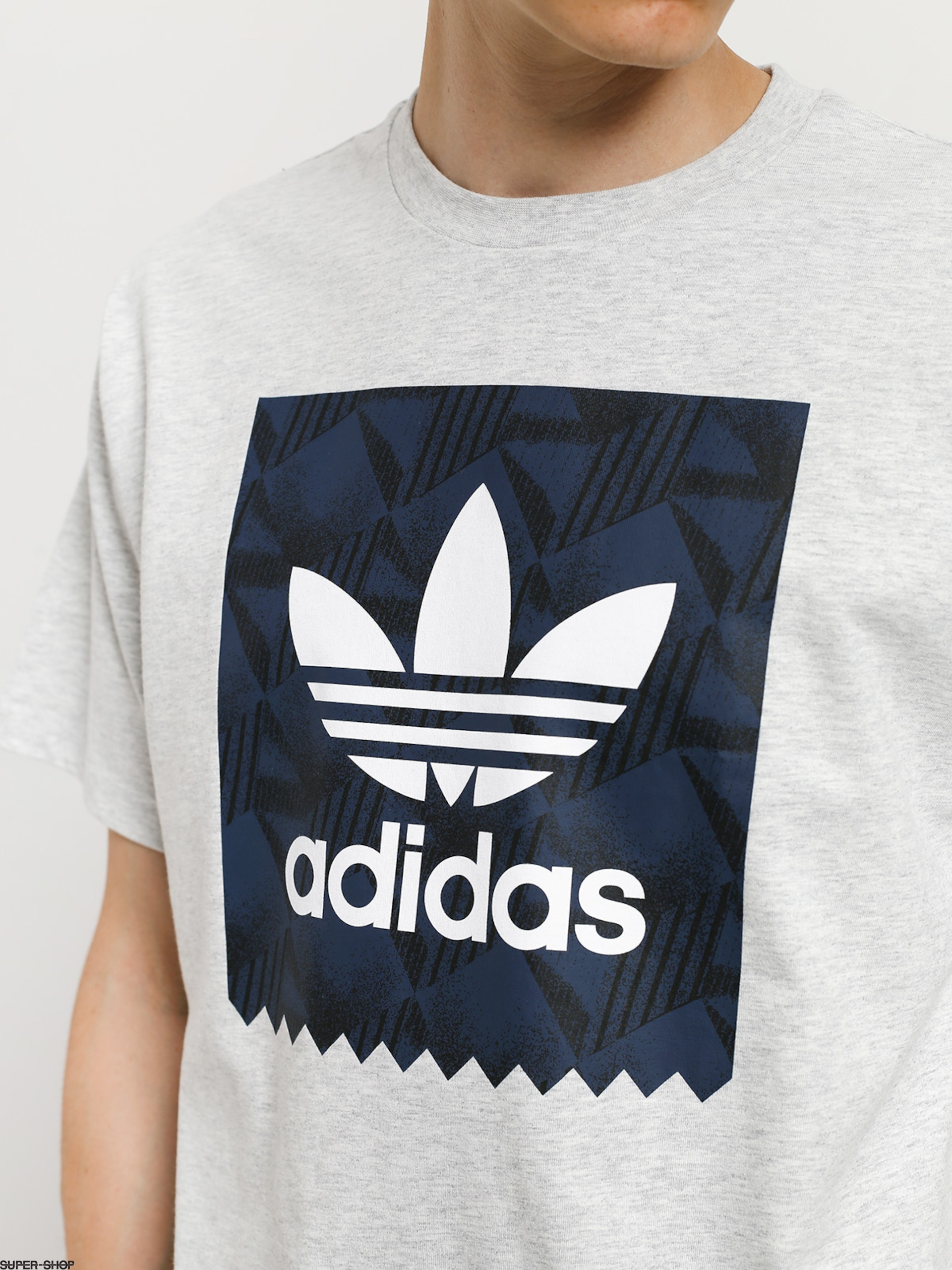 adidas Bb Print 1 T shirt (light grey heatherblackcollegiate navywhite)