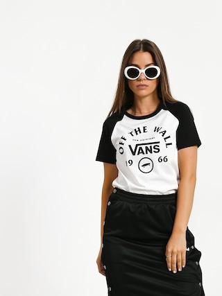 Vans Attendance Ringer T-shirt Wmn (white/black)