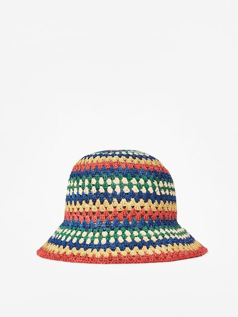Brixton Essex Raffia Bucket Hat Wmn (multi)