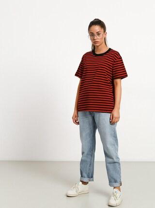The Hive Stripe T-shirt Wmn (black/red)