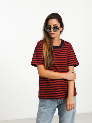 The Hive Stripe T-shirt Wmn (navy/red)