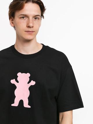 Grizzly Griptape Og Bear T-shirt (black/pink)