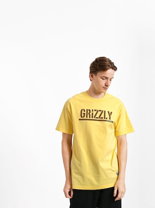 Grizzly Griptape Stamp T-shirt (banana/brown)